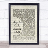 Always Look On The Bright Side Of Life Monty Python Song Lyric Script Print