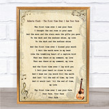 Roberta Flack - The First Time Ever I Saw Your Face Song Lyric Guitar Print