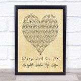 Always Look On The Bright Side Of Life Monty Python Heart Song Lyric Print