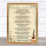 Luther Vandross - Dance With My Father Song Lyric Guitar Quote Print