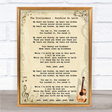 The Proclaimers - Sunshine On Leith Song Lyric Guitar Quote Print