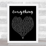 Everything Michael Buble Black Heart Song Lyric Quote Print