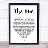 The One Kodaline Heart Song Lyric Quote Print