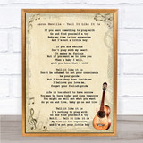 Aaron Neville Tell It Like It Is Song Lyric Vintage Quote Print