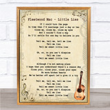 Fleetwood Mac Little Lies Song Lyric Vintage Quote Print
