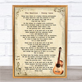 The Beatles Penny Lane Song Lyric Vintage Quote Print