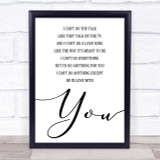 Dire Straits Romeo & Juliet Song Lyric Quote Print