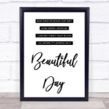 Elbow One Day Like This Song Lyric Quote Print
