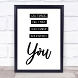 Coldplay Magic Song Lyric Quote Print