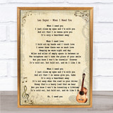Leo Sayer When I Need You Song Lyric Vintage Quote Print