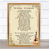 The Killers Mr Brightside Song Lyric Vintage Quote Print
