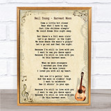 Neil Young Harvest Moon Song Lyric Vintage Quote Print