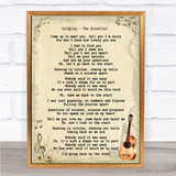 Coldplay The Scientist Song Lyric Vintage Quote Print