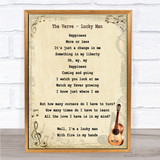 The Verve Lucky Man Song Lyric Vintage Quote Print