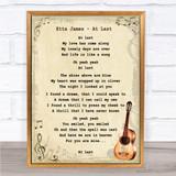 Etta James At Last Song Lyric Vintage Quote Print