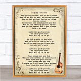 Coldplay Fix You Song Lyric Vintage Quote Print