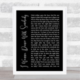 Whitney Houston I Wanna Dance With Somebody Black Script Song Lyric Quote Print