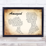 Lonestar Amazed Man Lady Couple Song Lyric Quote Print