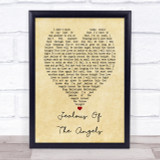 Katherine Jenkins Jealous Of The Angels Vintage Heart Song Lyric Quote Print
