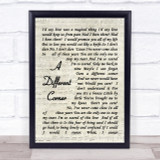 George Michael A Different Corner Vintage Script Song Lyric Quote Print
