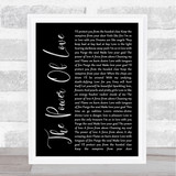 Frankie Goes To Hollywood The Power Of Love Black Script Song Lyric Quote Print