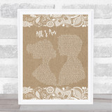 Jess Glynne All I Am Burlap & Lace Song Lyric Quote Print