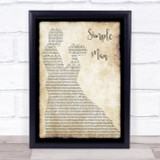 Lynyrd Skynyrd Simple Man Song Lyric Man Lady Dancing Quote Print