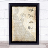 Pink Floyd Wish You Were Here Song Lyric Man Lady Dancing Quote Print