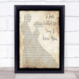 Stevie Wonder I Just Called To Say I Love You Song Lyric Man Lady Dancing Print