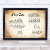 Any Song Lyrics Custom Landscape Couple Wall Art Quote Personalised Lyrics Print