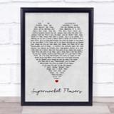 Supermarket Flowers Ed Sheeran Grey Heart Song Lyric Quote Print