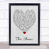 The Chain Fleetwood Mac Grey Heart Song Lyric Quote Print