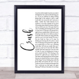 Dave Matthews Band Crush White Script Song Lyric Quote Print