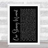 Diana Ross One Shining Moment Black Script Song Lyric Quote Print