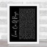 Bon Jovi Livin' On A Prayer Black Script Song Lyric Quote Print