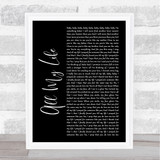 K-Ci & JoJo All My Life Black Script Song Lyric Quote Print