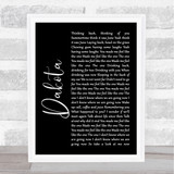 Stereophonics Dakota Black Script Song Lyric Quote Print