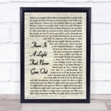 The Smiths There Is A Light That Never Goes Out Vintage Script Song Lyric Print