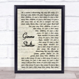 The Rolling Stones Gimme Shelter Vintage Script Song Lyric Quote Print