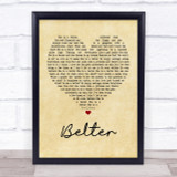 Gerry Cinnamon Belter Vintage Heart Song Lyric Quote Print