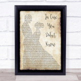 Brett Young In Case You Didn't Know Man Lady Dancing Song Lyric Quote Print