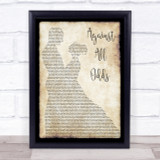 Phil Collins Against All Odds Man Lady Dancing Song Lyric Quote Print
