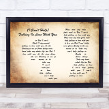 UB40 (I Can't Help) Falling In Love With You Man Lady Couple Song Lyric Print