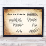 Luther Vandross Dance With My Father Man Lady Couple Song Lyric Quote Print