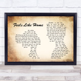 Chantal Kreviazuk Feels Like Home Man Lady Couple Song Lyric Quote Print