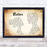 Gerry Cinnamon Belter Man Lady Couple Song Lyric Quote Print