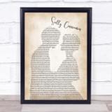 The Stone Roses Sally Cinnamon Man Lady Bride Groom Wedding Song Lyric Print