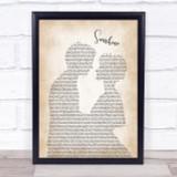 Gabrielle Sunshine Man Lady Bride Groom Wedding Song Lyric Quote Print