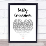 The Stone Roses Sally Cinnamon Heart Song Lyric Quote Print