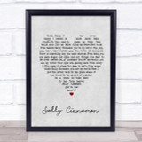 The Stone Roses Sally Cinnamon Grey Heart Song Lyric Quote Print